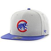 '47 Men's Chicago Cubs Grey Sure Shot Adjustable Snapback Hat