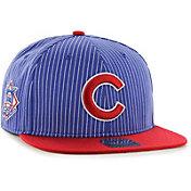 '47 Men's Chicago Cubs Woodside Captain Royal Adjustable Snapback Hat