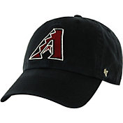 '47 Men's Arizona Diamondbacks Clean Up Black Adjustable Hat