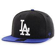 '47 Men's Los Angeles Dodgers Black Sure Shot Adjustable Snapback Hat
