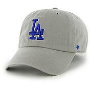 '47 Men's Los Angeles Dodgers Clean Up Grey Adjustable Hat