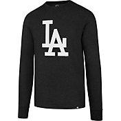 '47 Men's Los Angeles Dodgers Black Club Long Sleeve Shirt