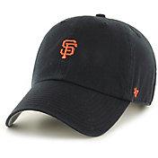 '47 Men's San Francisco Giants Base Runner Clean Up Black Adjustable Hat