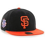'47 Men's San Francisco Giants Sure Shot Captain Black Adjustable Snapback Hat