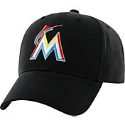'47 Youth Miami Marlins Basic Black Adjustable Hat
