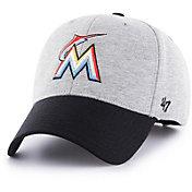 '47 Men's Miami Marlins Retent MVP Grey Adjustable Hat