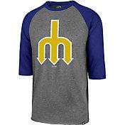 '47 Men's Seattle Mariners Club Three-Quarter Sleeve Shirt