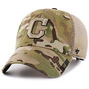 '47 Men's Cleveland Indians Jericho Camo Clean Up Adjustable Hat