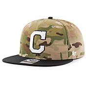 '47 Men's Cleveland Indians Camo Overlord Captain Adjustable Snapback Hat