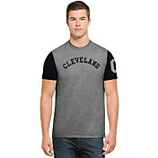 '47 Men's Cleveland Indians Grey Triple-Up T-Shirt