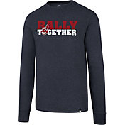 "'47 Men's Cleveland Indians Club ""Rally Together"" Navy Long Sleeve Shirt"