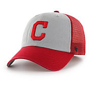 '47 Men's Cleveland Indians Ravine Closer Grey/Red Fitted Hat