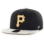 '47 Men's Pittsburgh Pirates Black Bluster Adjustable Snapback Hat