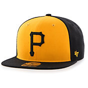 '47 Men's Pittsburgh Pirates Black Sure Shot Adjustable Snapback Hat