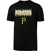 '47 Men's Pittsburgh Pirates Splitter Black T-Shirt
