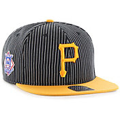 '47 Men's Pittsburgh Pirates Woodside Captain Black Adjustable Snapback Hat