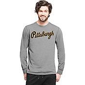 '47 Men's Pittsburgh Pirates Grey Long Sleeve Shirt