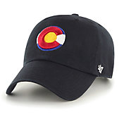 '47 Men's Colorado Rockies Clean Up Black Adjustable Hat