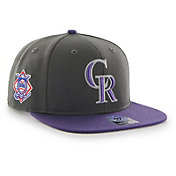 '47 Men's Colorado Rockies Sure Shot Captain Grey Adjustable Snapback Hat