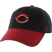 '47 Men's Cincinnati Reds Cooperstown Clean Up Black Adjustable Hat