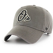 '47 Men's Baltimore Orioles Borderline Clean Up Grey Adjustable Hat