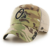 '47 Men's Baltimore Orioles Jericho Camo Clean Up Adjustable Hat