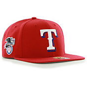 '47 Men's Texas Rangers Red Sure Shot Adjustable Snapback Hat