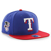 '47 Men's Texas Rangers Sure Shot Captain Royal Adjustable Snapback Hat