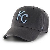 '47 Men's Kansas City Royals Clean Up Black Adjustable Hat