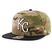 '47 Men's Kansas City Royals Camo Overlord Captain Adjustable Snapback Hat