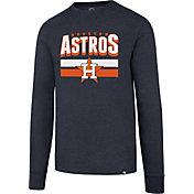 '47 Men's Houston Astros Club Navy Long Sleeve Shirt