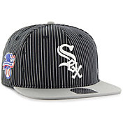 '47 Men's Chicago White Sox Woodside Captain Black Adjustable Snapback Hat