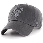 '47 Men's Milwaukee Bucks Grey Clean Up Adjustable Hat