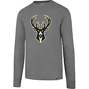 '47 Men's Milwaukee Bucks Club Grey Long Sleeve Shirt