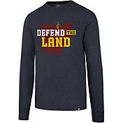 '47 Men's Cleveland Cavaliers Defend The Land Navy Long Sleeve Shirt