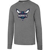 '47 Men's Charlotte Hornets Club Grey Long Sleeve Shirt