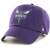 '47 Men's Charlotte Hornets Purple Clean Up Adjustable Hat