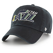 '47 Men's Utah Jazz Black Clean-Up Adjustable Hat