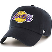 '47 Men's Los Angeles Lakers Black Clean Up Adjustable Hat