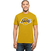'47 Men's Los Angeles Lakers Splitter Logo Gold T-Shirt