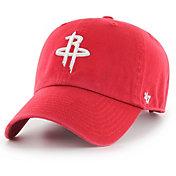 '47 Men's Houston Rockets Red Clean Up Adjustable Hat