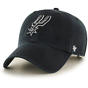 '47 Men's San Antonio Spurs Black Clean-Up Adjustable Hat