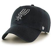 '47 Men's San Antonio Spurs Black Clean Up Adjustable Hat