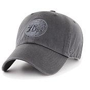 '47 Men's Philadelphia 76ers Grey Clean Up Adjustable Hat