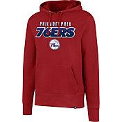 '47 Men's Philadelphia 76ers Red Pullover Hoodie