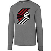 '47 Men's Portland Trail Blazers Club Grey Long Sleeve Shirt