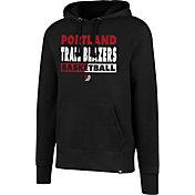 '47 Men's Portland Trail Blazers Black Pullover Hoodie