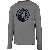 '47 Men's Minnesota Timberwolves Club Grey Long Sleeve Shirt