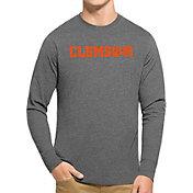 '47 Men's Clemson Tigers Grey Club Long Sleeve T-Shirt