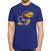'47 Men's Kansas Jayhawks Blue Logo Club T-Shirt